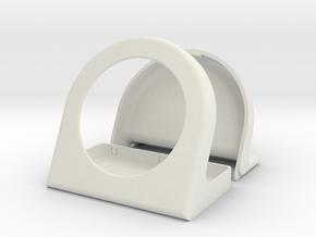 Case (M1) for HyperPixel 2.1 Round Touch (Pi Zero) in White Natural Versatile Plastic