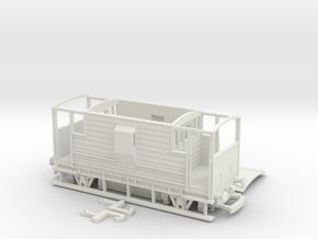 HO/OO LMS 20-ton Brake Van v2 Bachmann in White Natural Versatile Plastic