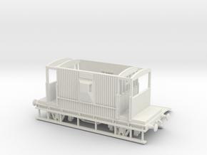 HO/OO BR 20-ton Brake van Realistic v2 Chain in White Natural Versatile Plastic