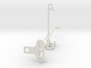 Motorola Edge 20 Fusion tripod & stabilizer mount in White Natural Versatile Plastic