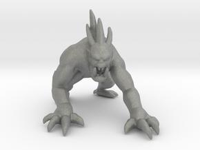 Fiendish Ghoul miniature model fantasy games rpg in Gray PA12