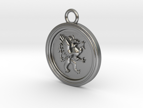 Griffin-pendant in Natural Silver