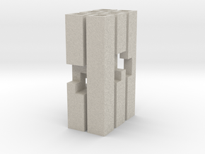 Triple Cross Puzzle (S) in Natural Sandstone