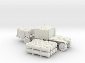 1:100 MZKT-7930 Astrolog BALL Missile System in White Natural Versatile Plastic