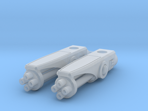 TF-G1b Open Burster Cannon in Smooth Fine Detail Plastic: d00
