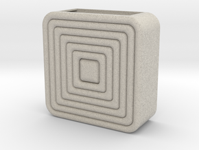 square_coiled_wall_planter in Natural Sandstone