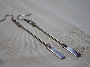 Theodora Earrings in Polished Silver (Interlocking Parts)