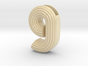 "Letter planter ""g"" in Glossy Full Color Sandstone"