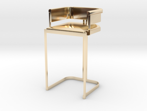 Miniature Luxury Vintage Bar Stool in 14K Yellow Gold