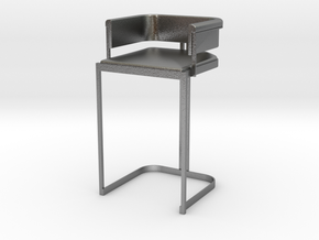 Miniature Luxury Vintage Bar Stool in Natural Silver