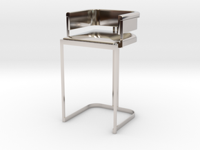 Miniature Luxury Vintage Bar Stool in Rhodium Plated Brass