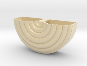 Half round Coiled wall planter in Glossy Full Color Sandstone