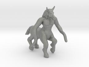 Molkrom 95mm miniature model fantasy games figure in Gray PA12