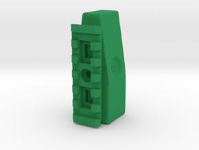 Devastator Minimalist Shoulder Stock Pad in Green Processed Versatile Plastic