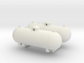1/64th 500 Gallon Propane tanks in White Natural Versatile Plastic
