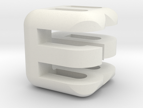 G E B upper (2x2x2) in White Natural Versatile Plastic