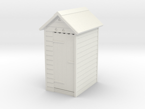 VR Outdoor Dunny WC Toilet Outhouse 1:87 Scale in White Natural Versatile Plastic