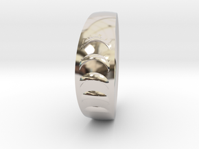 New Wave ring in Rhodium Plated Brass: 10 / 61.5