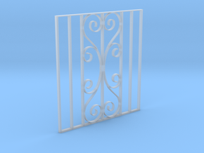 Dollshouse 1/12 scale gate in Smooth Fine Detail Plastic