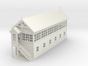 VR Signal Box #4 [Left Stairs] 1:87 Scale in White Natural Versatile Plastic