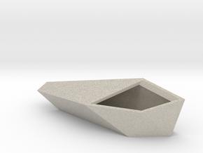 Geometric Planter in Natural Sandstone