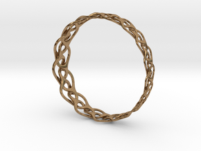 Bracelet I large in Natural Brass
