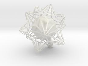 Vase 03 in White Natural Versatile Plastic
