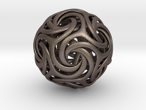 Spiralis+0,025-7cm in Polished Bronzed Silver Steel