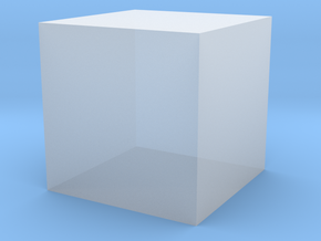 1 cc / 1 cm3 (no markup) in Smooth Fine Detail Plastic