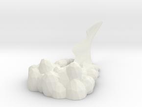 dust base for the railbike in White Natural Versatile Plastic