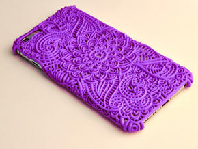 Neisha - Floral Case for Iphone 6/6S Plus in Purple Strong & Flexible Polished