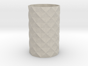 Patterned Mathematical Vase (100mmx60mm) in Natural Sandstone