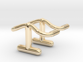 Detour Handlebar Cufflinks in 14K Yellow Gold