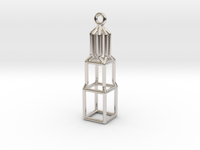 Domtoren Pendant (Small) in Rhodium Plated Brass