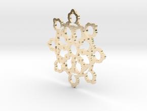 Mandelbrot Web Pendant 2 in 14K Yellow Gold
