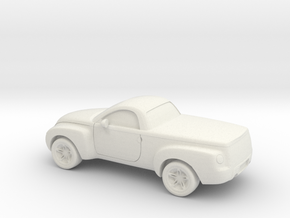 1/87 2003-06 Chevrolet SSR in White Natural Versatile Plastic
