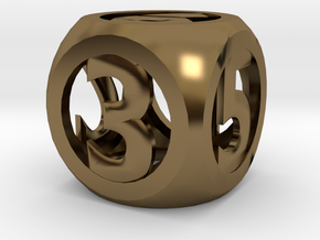 hollow round die in Polished Bronze