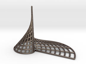 Archimedean Spire in Polished Bronzed Silver Steel