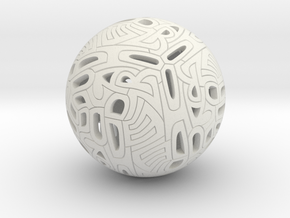 Dodecahedron Autologlyph in White Strong & Flexible