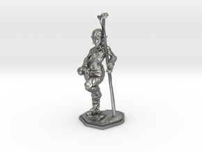 elven healer 39mm miniature in Natural Silver