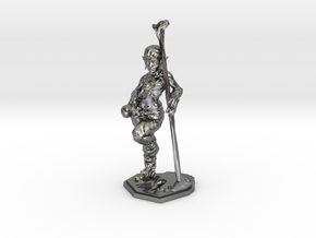 elven healer 39mm miniature in Polished Silver