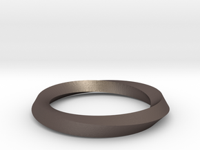 Mobius band in Polished Bronzed Silver Steel