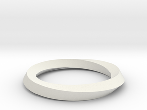 Mobius band in White Natural Versatile Plastic