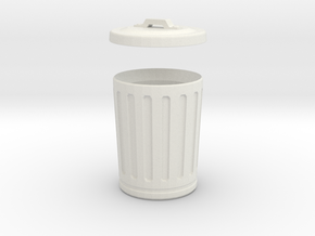 thrash can, us style in White Natural Versatile Plastic