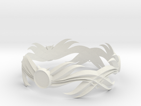 Feathered Bracelet -v1 in White Strong & Flexible