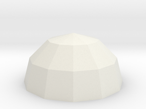 Polyhedral Bowl in White Natural Versatile Plastic