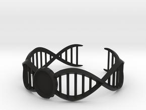 DNA Bracelet -v2 Large (10cm) in Black Strong & Flexible
