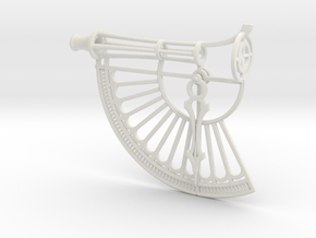 Simple Astrolabe in White Natural Versatile Plastic