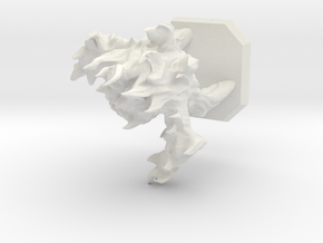Fire elemental miniature in White Natural Versatile Plastic