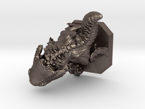 Chaos elemental miniature in Polished Bronzed Silver Steel
